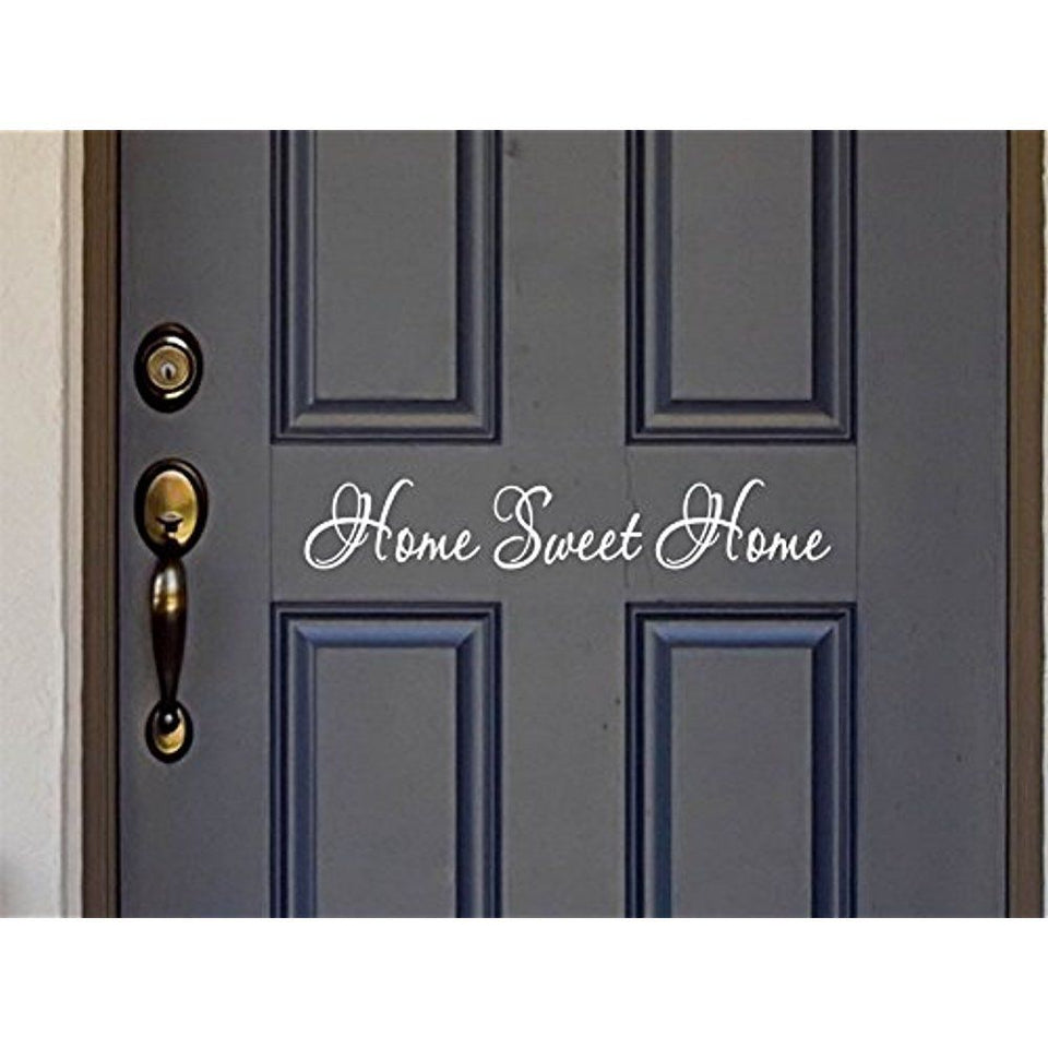 Sweet Home Quote Wall Stickers Vinyl Lettering Word For Front Door