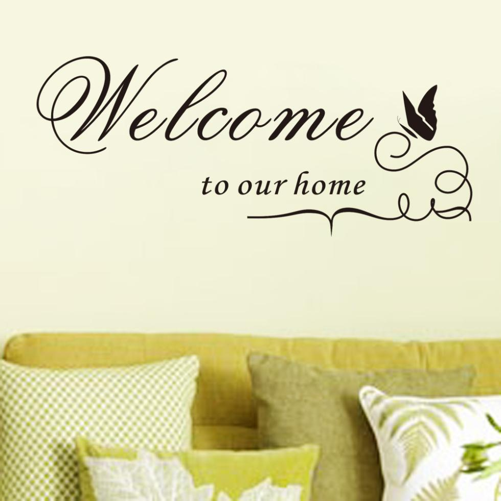 New Quote Vinyl Decal Wall Sticker Welcome to our home Home