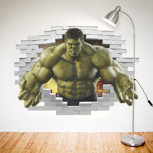 Superheroes Comic Avengers The Incredible Hulk Wall Sticker Vinyl Art Home Kids Boy Bedroom Poster Thor Nursery Decor Decal