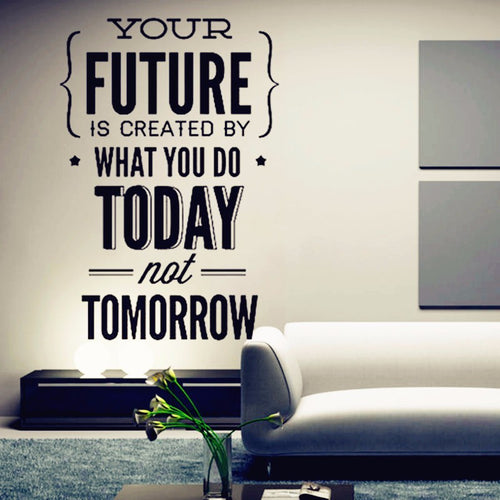 Inspirational Quotes Wall Stickers Office Wall Decor Work Hard To Gain More