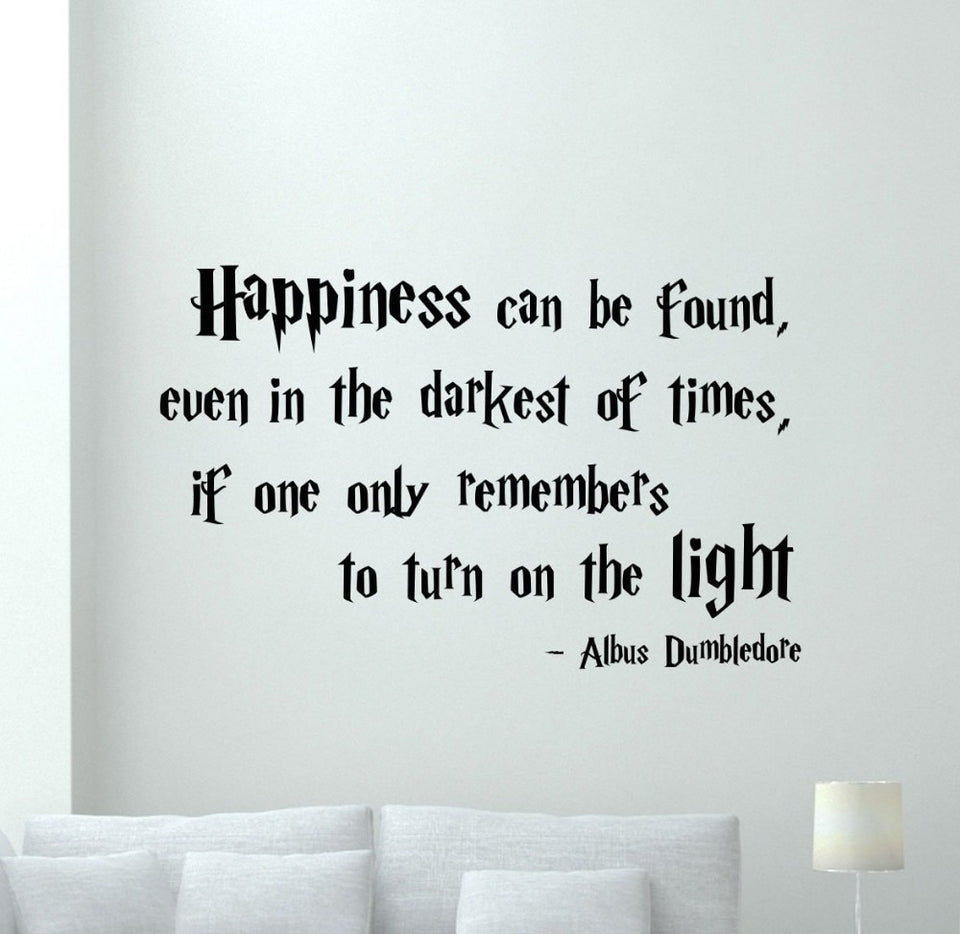 Harry Potter Quotations Happiness Wall sticker Home Quote