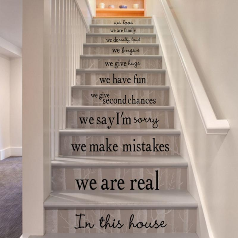 Stair Decals Wall Sticker Quote We Are Family
