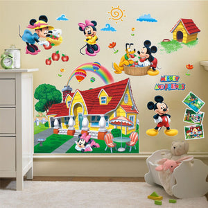 Mickey Mouse Clubhouse Wall Sticker Mural Decal Kids Baby Room