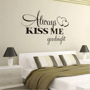 Romantic Mural Love Vinyl Wall Stickers Bedroom Quote Decals