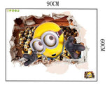 3D Minions movie wall stickers Arts Posters Wallpaper