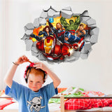 3D Marvel's Avengers Movie Wall Stickers For kids room Super Hero