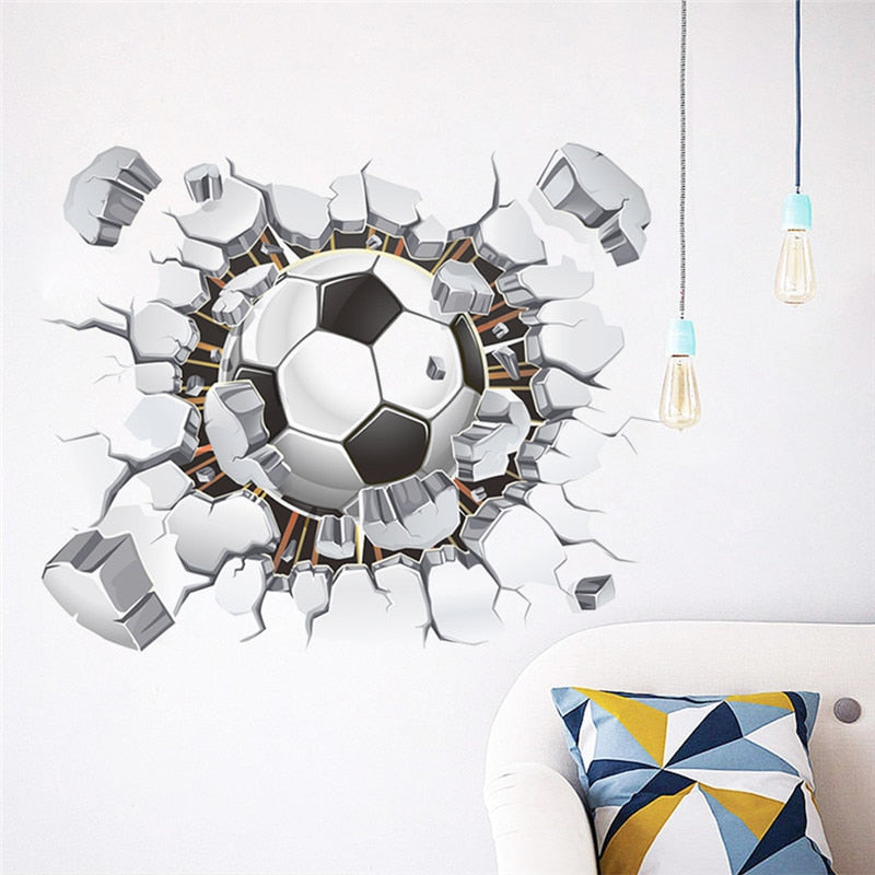 Wall Football 3D Wall Stickers For Kids Rooms Home Decor