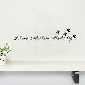 Dog Quote Wall Stickers Bedroom Home decoration