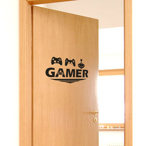 Gamer Home Decor Wall Sticker Poster Quote Home Decoration