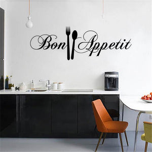 Diy Knife And Fork Removable Wall Decal Family Home Sticker 58*18Cm Mural Art Home Decor Kitchen Pvc Wallpaper Wall Stickers