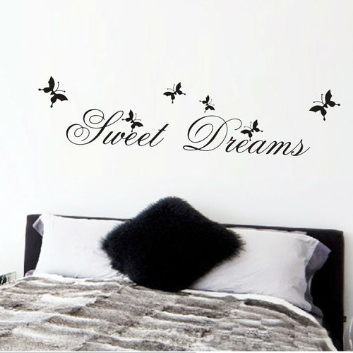 Sweet Dreams Wall Stickers Bedroom Decoration Quote