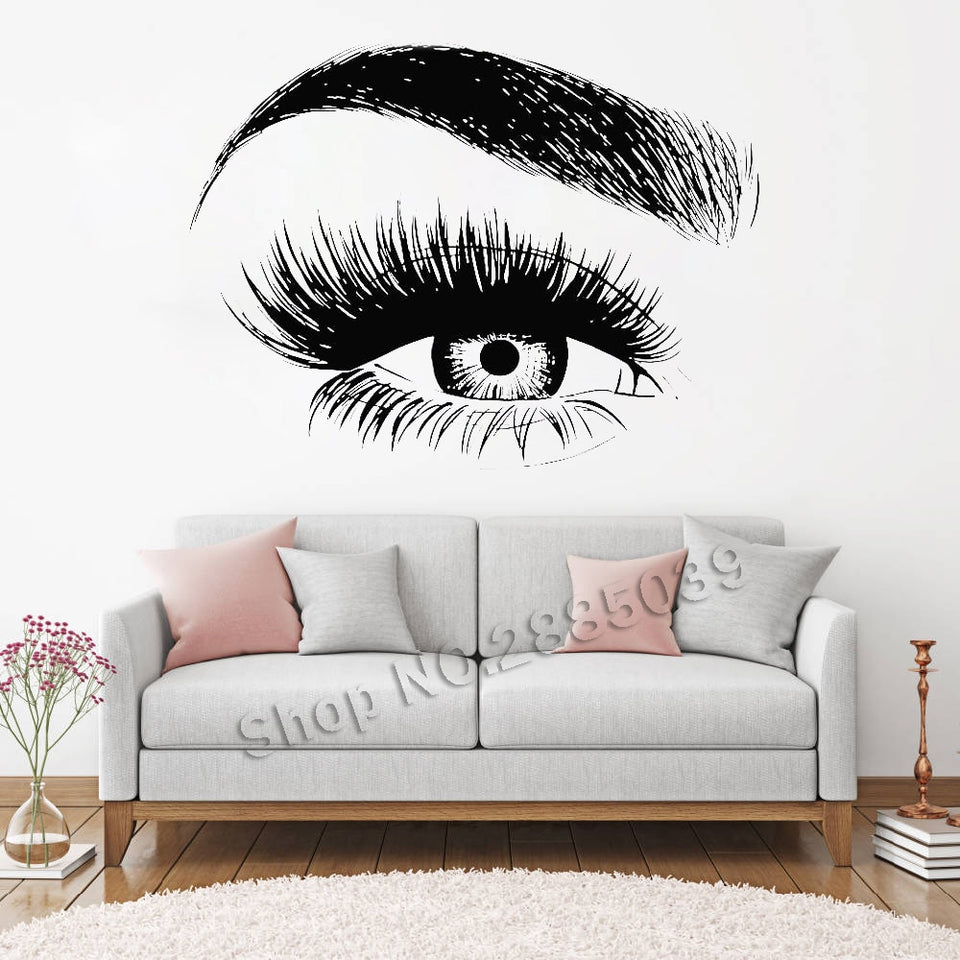 Beauty Salon Quote Make Up Vinyl Girl Room Wall Stickers