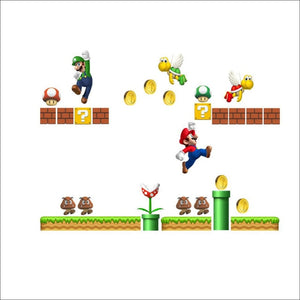 Super Mario Bros 3D Wall Sticker for Kids Nursery Home Decor