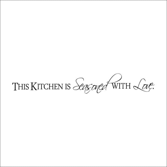 Kitchen Wall Quote Art food wall Stickers Home Decoration