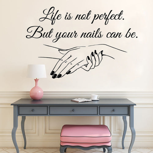 Nail Salon Quote Wall Art Polish Wall Mural Beauty Salon Decoration Manicure