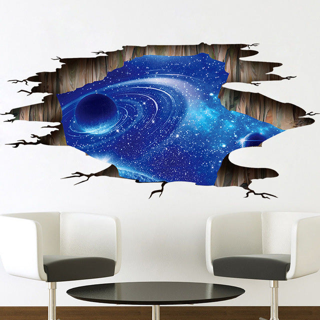 3D Cosmic Space Galaxy Children Wall stickers