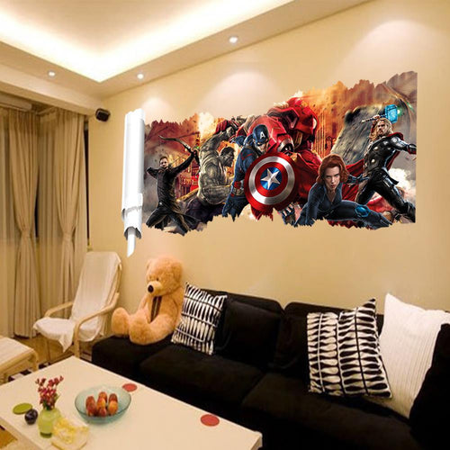 Marvels The Avengers Wall Sticker Decals For Kids Room Home Decor Wallpaper Poster Nursery Wall Art