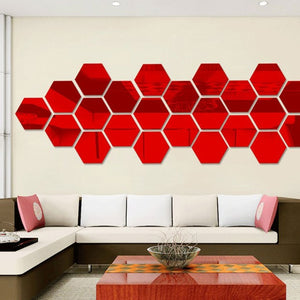 Acrylic 3D Mirror Wall Stickers Decals DIY