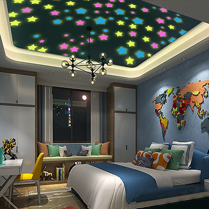 3D stars glow in the dark Wall Stickers for Kids Room