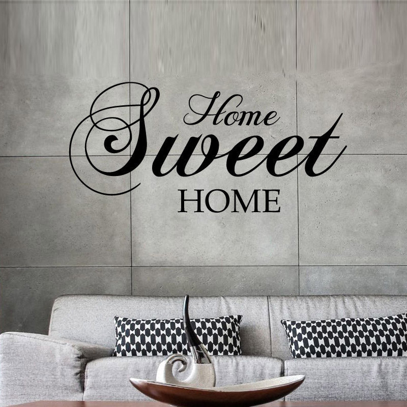 Home Sweet Home Wall Stickers Quote