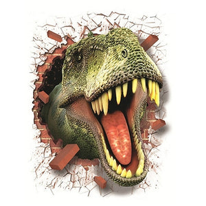 3D Cartoon Dinosaurs Poster Wall Stickers Decals Room Party