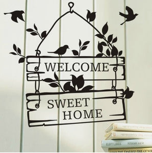 Welcome To Our Home Quote Wall Decals Decorative
