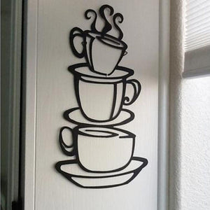 Wall Stickers Home Decor Removable Diy Kitchen Decor Coffee House Cup Decals Vinyl Wall Sticker Muurstickers Pegatinas De Pared