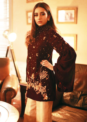 Charlotte Maroon Online shopping pakistan clothing