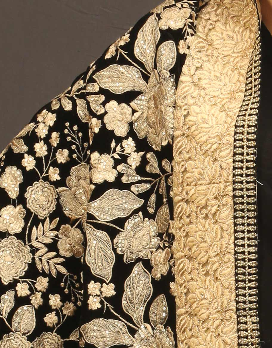 Gold Floral Shawl