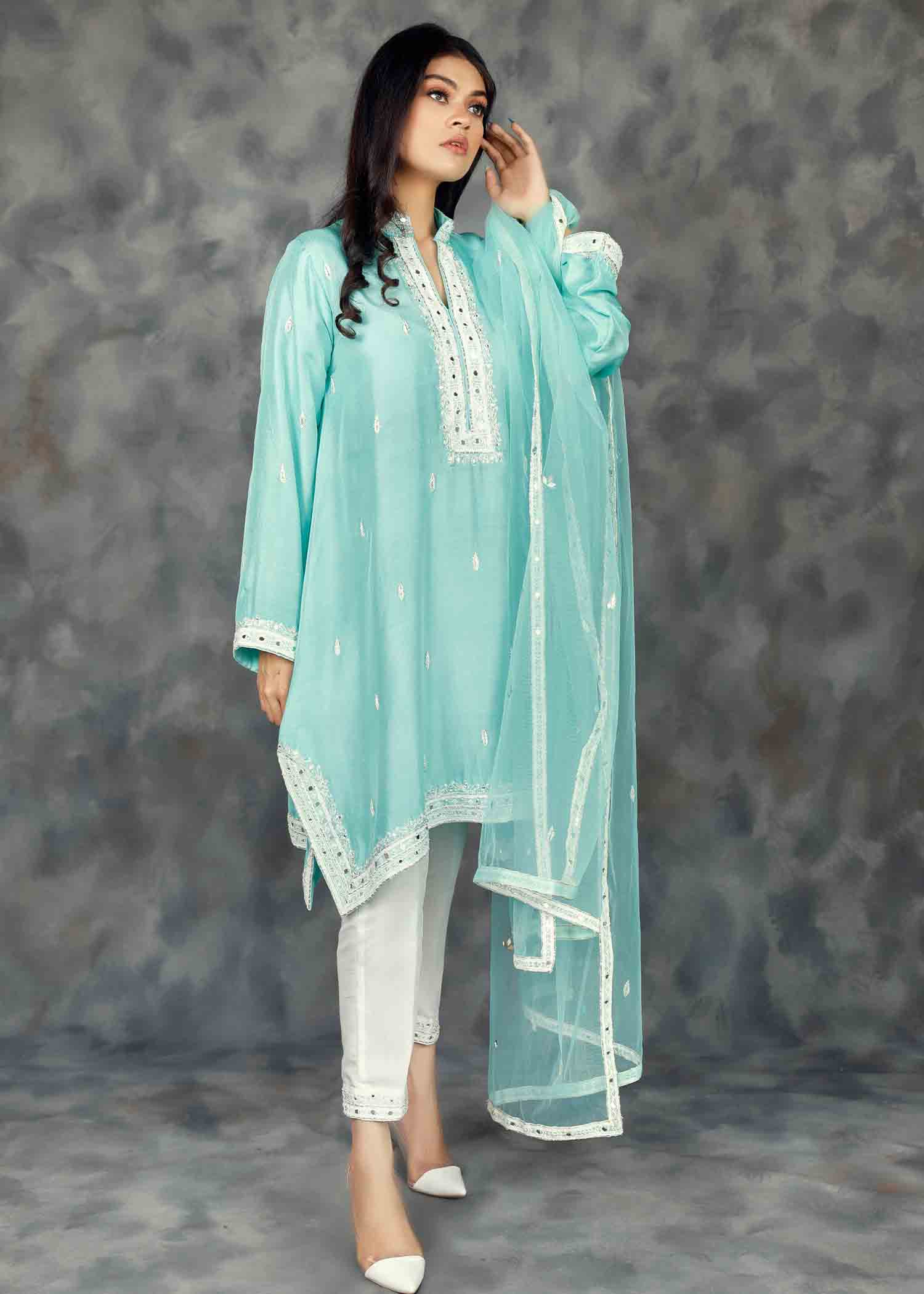 Blue Radiance Short Kurta