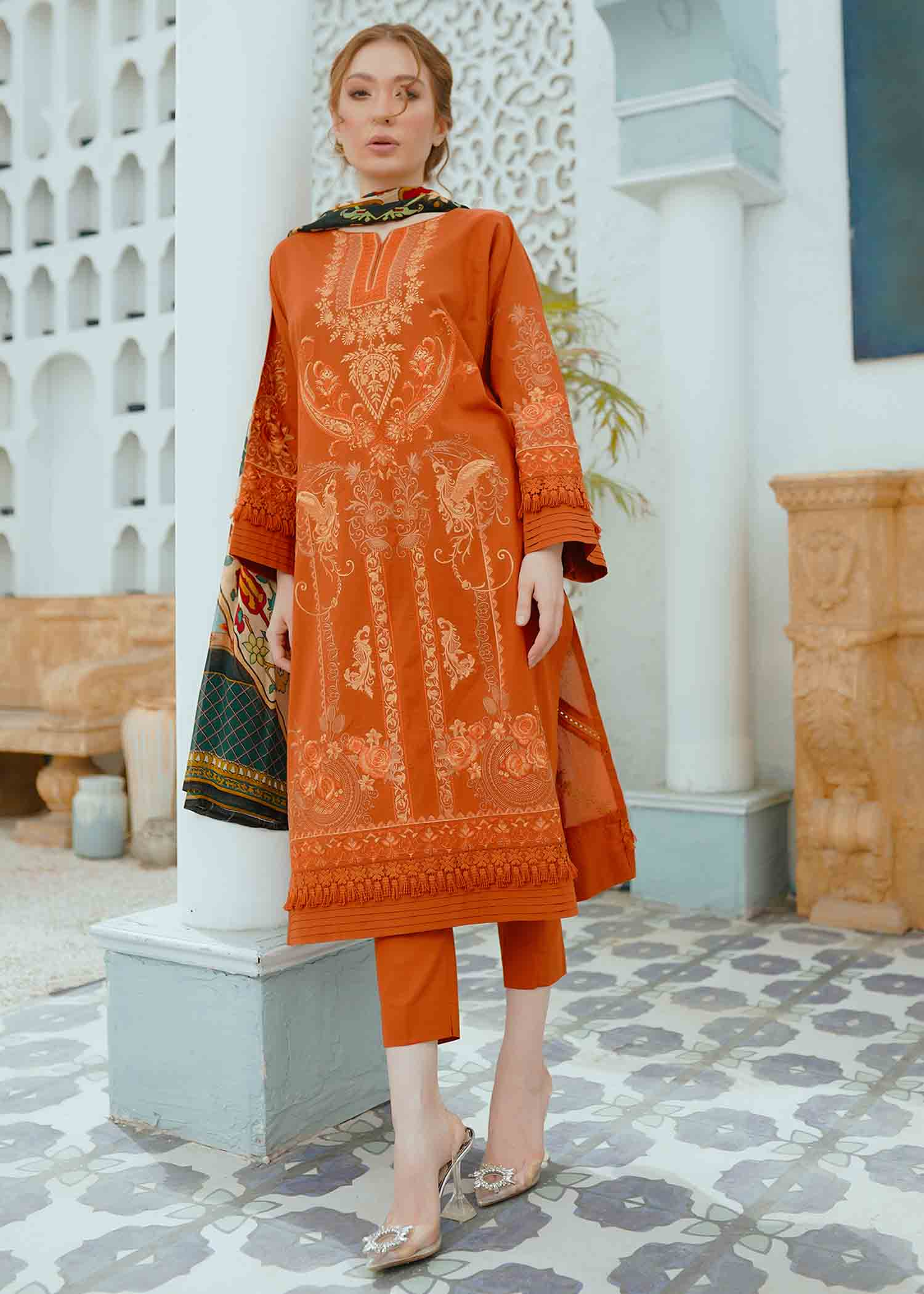 Marmalade Rose Embroidered Lawn 3Pc NEL-21609