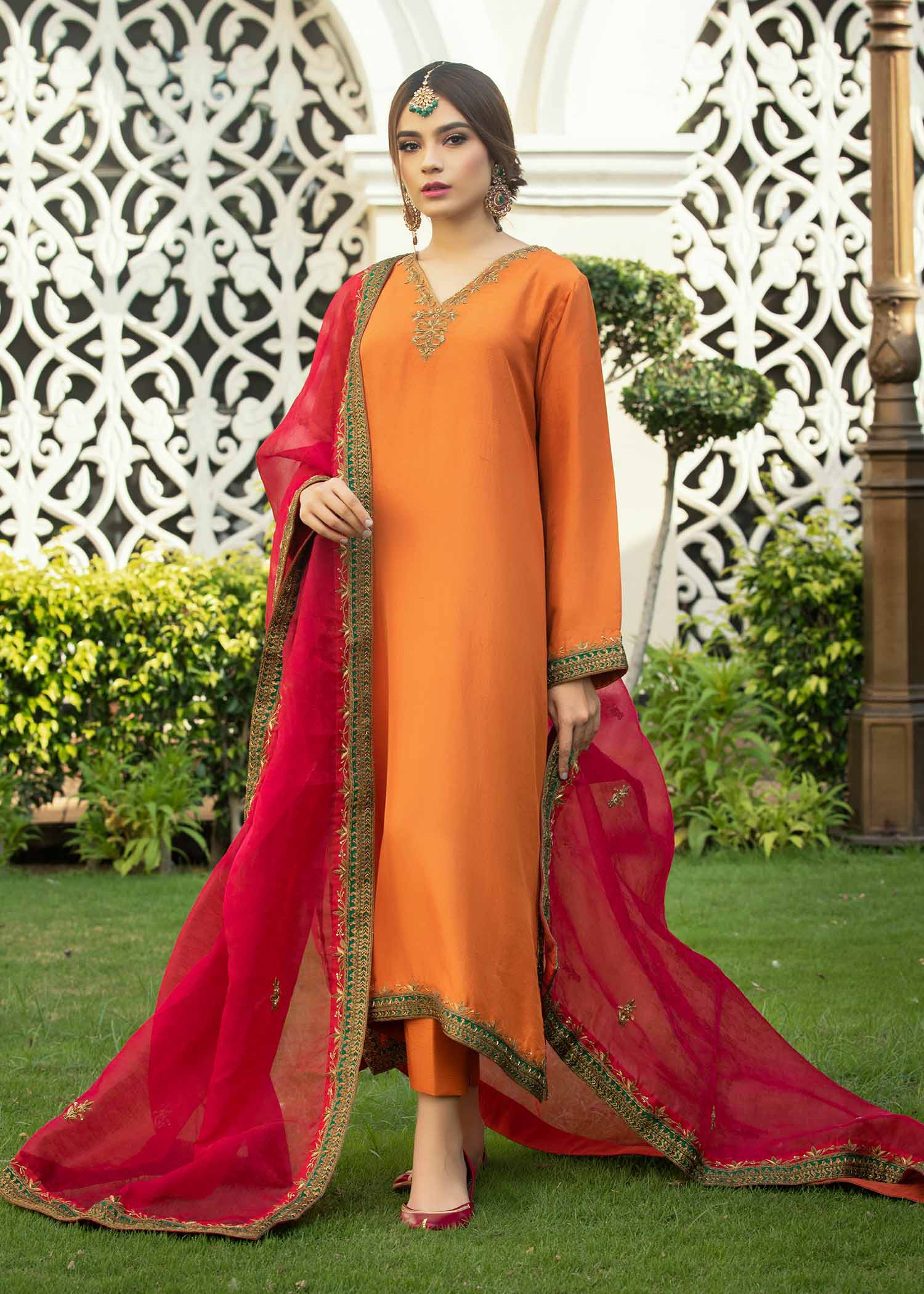 Burnt Orange Kaftan Kurta