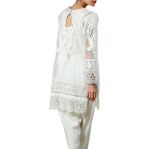Short Kurta with Silk Floss Embroidery