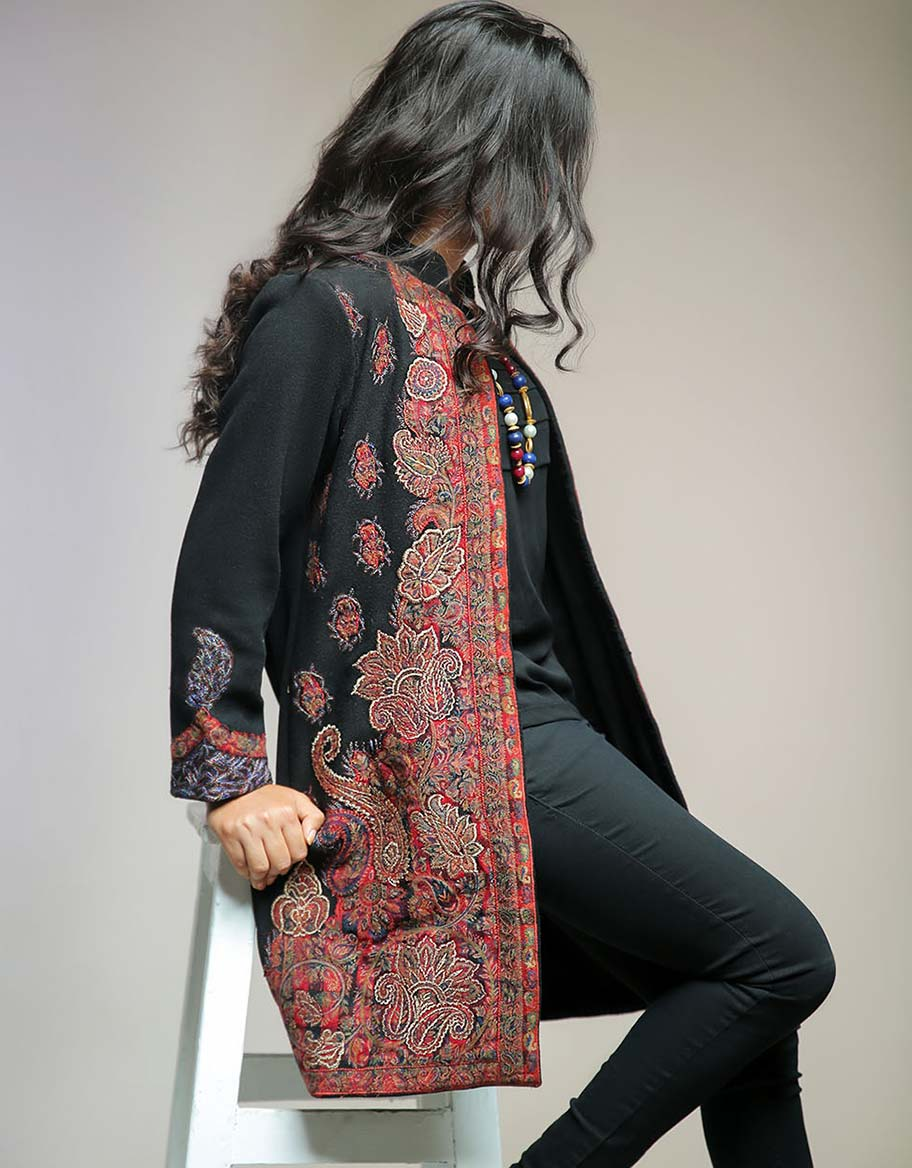 Black Jacket with Kani Applique