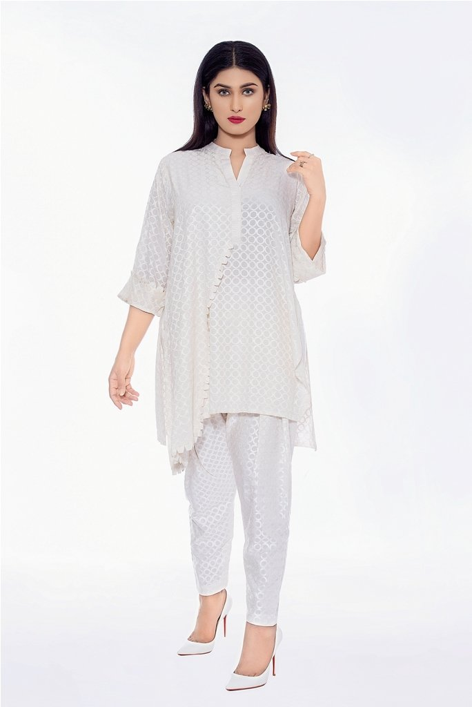 Fully Embroidered Silk Shirt & Pants 2020