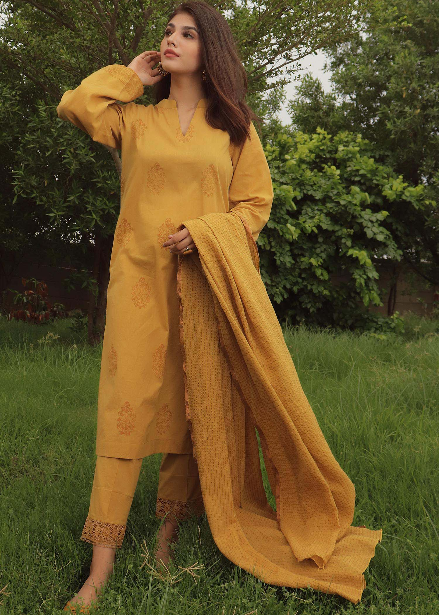 Mustard Three-Piece