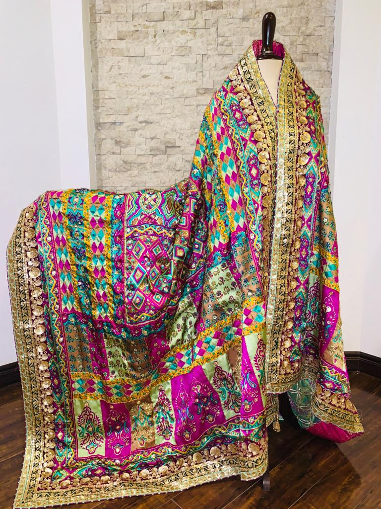 Screen Printed Silk Collection Shawl