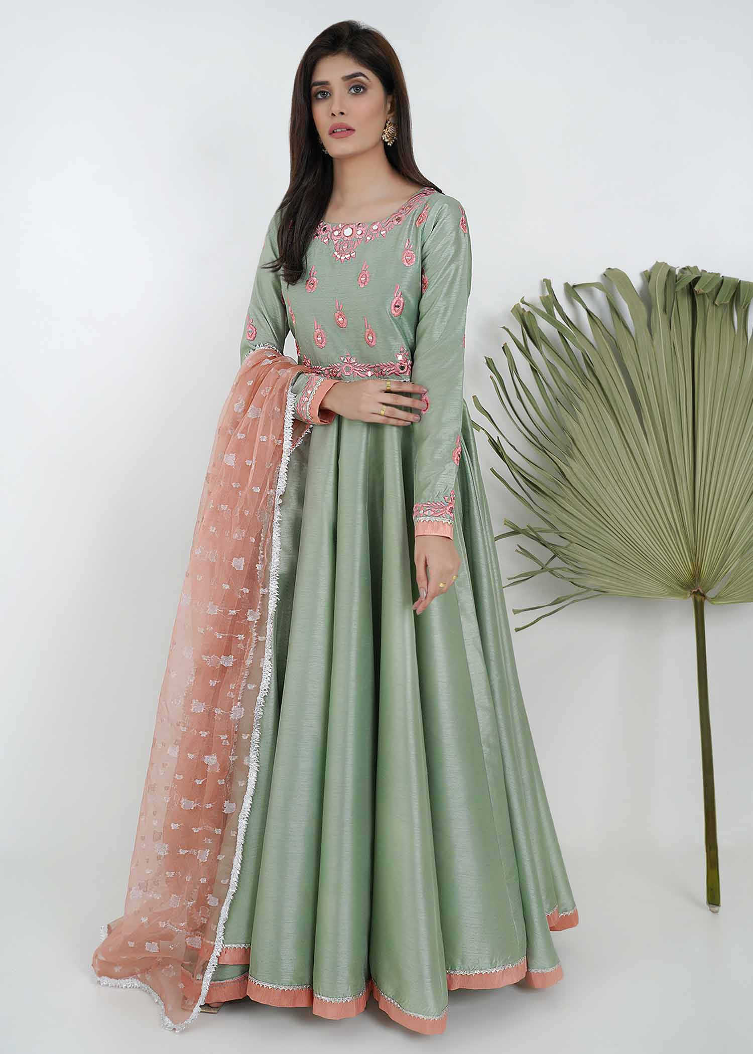 Mint green peshwas
