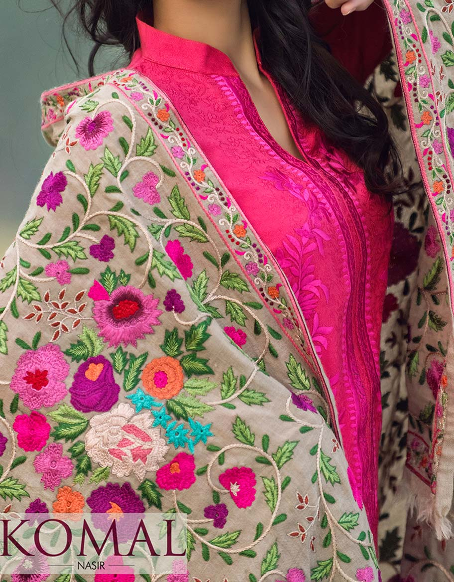 Floral Pattern Classic Shawl