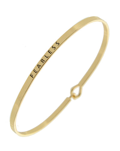 Brass Message Bangle
