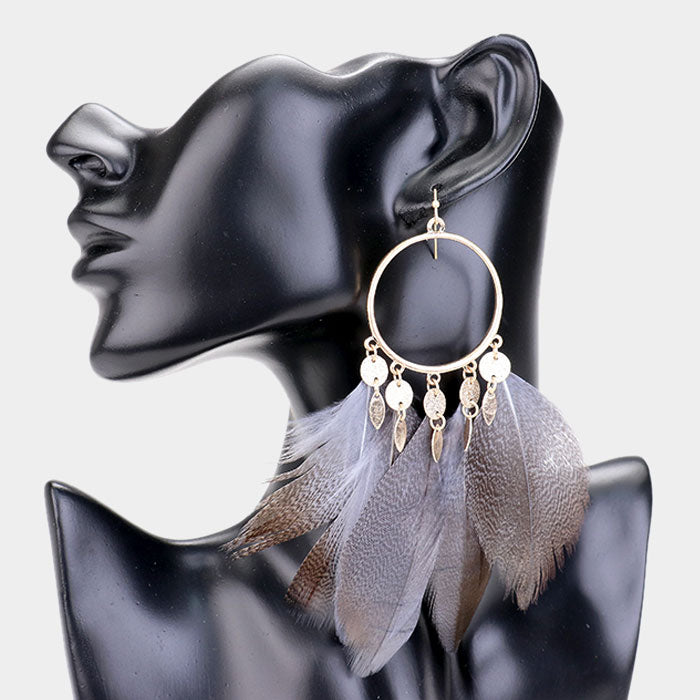 Lovely Feathers Statement Earrings