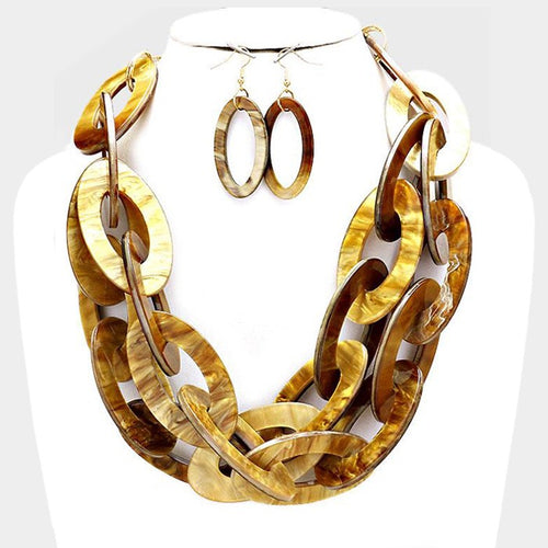 Marbled Statement Necklace