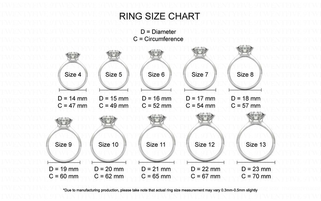 Size Guide 9twentyfive
