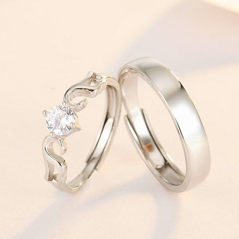 Agnes Couple Rings (Adjustable) - Loville.co