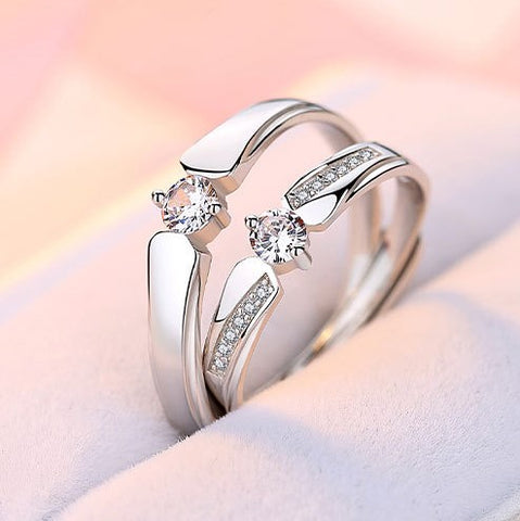 Daffodil Love Couple Rings (Adjustable) - Loville.co