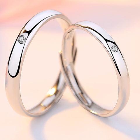 Soraya Love Couple Rings (Adjustable)