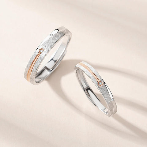 Meteor Couple Rings (Adjustable)