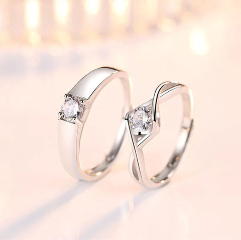 Zinna Love Couple Rings (Adjustable) - Loville.co