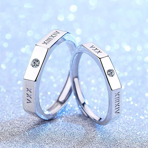 Roman Love Couple Rings (Adjustable) - Loville.co