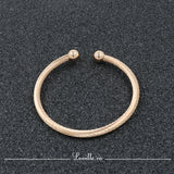 (Rose Gold) Mirror Ball Bearing Bangle - Loville.co